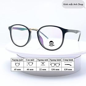 Gọng kính tròn nhựa dẻo thời trang 209 Anh Shop nhận cắt cận viễn loạn