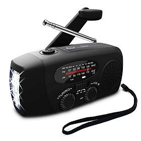 Multifunctional Hand Radio Weather Radio Use Emergency LED Flashlight and Power