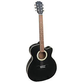 Đàn guitar acoustic có ty màu đen - Mặt gỗ thông nguyên tấm guitar SVA1