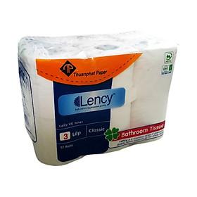 Giấy vệ sinh cao cấp LENCY ( 12 cuộn x 3 lớp )