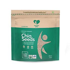 Hạt Chia trắng hữu cơ Organic White Chia Seeds Nourish You Gói 500g