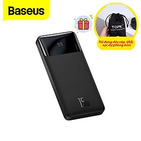 (Tặng túi đựng TOPK) Pin sạc dự phòng Baseus dung lượng 20000mAh/30000mAh, màn hình LED hiển thị, công suất 15W sạc nhanh QC, PD cho iPhone, Samsung, Xiaomi,....-Hàng chính hãng
