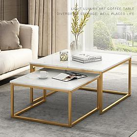 Bàn trà đôi hình vuông, bàn sofa BAH012 (Màu ngẫu nhiên)