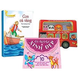 Bộ Sách Dành Cho Bé Gái Từ 0-3 Tuổi: Bus Stop - Bến Xe Buýt + Túi Truyện Xinh Đẹp Màu Hồng + Con Cá Vàng (Bộ 3 Cuốn)