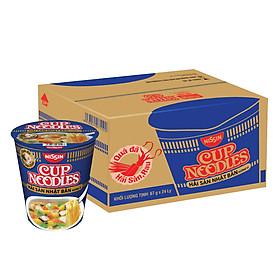 Thùng 24 Ly Mì Cup Noodles Hương Vị Hải Sản Nhật Bản (67g / Ly)