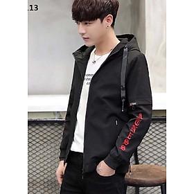 Áo khoác dù Angel cho nam 2 lớp, size M và L màu đen đỏ rất đẹp