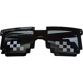 Mosaic Pixel Code Novelty Resolution Pixelated Pixel Sunglasses Cosplay Cartoon