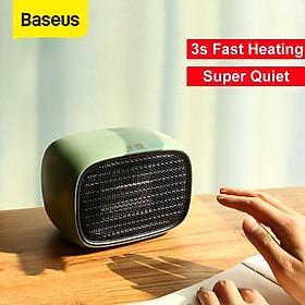 Máy sưởi mini để bàn Baseus Warm Little White Fan Heater (PTC Ceramic sheet heating, 3s fast heating, 500W, 50Hz) - Hàng chính hãng