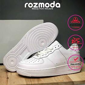Giày thể thao trắng nam nữ cổ thấp Rozmoda GI16