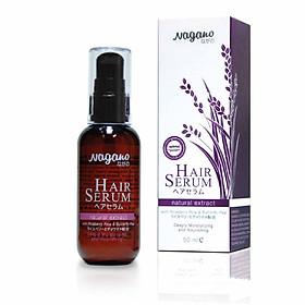 Serum Dưỡng Tóc Suôn Mượt Hoa Đậu Biếc Nagano 50ml - Hair Serum Nagano 50ml - Phục hồi cho tóc hư tổn, chống lại tác nhân gây hại từ ô nhiễm và ánh nắng mặt trời.