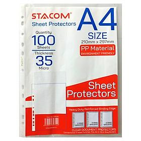 Bìa Lá A4 11 Lỗ Dày 0.035mm Stacom - D3035