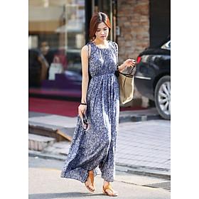Đầm Maxi Hoa Xinh Không Tay DN080 MayBlue, Đầm Form Dài Đẹp