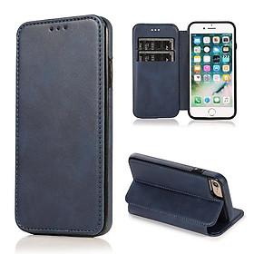 Dành cho iPhone 6s / 7 / 8Plus / X / XR / XSMAX / 11 / 11PRO / 11PRO MAX lật điện thoại bao da PU màu xanh da trời