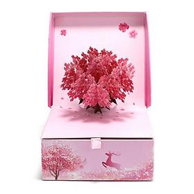 Hộp quà Valentine Sakura Origami Cao Cấp + Kèm 01 thiệp Happy Day