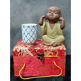 Tượng Chú tiểu không nghe (Tặng kèm ly trà gốm Nhật) - CT02