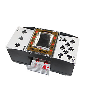 2 Decks Automatic Card Shuffler Automatic Playing Cards Shuffler Mixer Games Poker Sorter Machine Dispenser for Travel