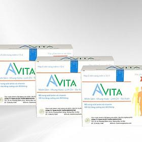 Combo 03 hộp Thực phẩm chức năng Đạm Bổ Tăng Cân Cho Người Gầy Avita, nâng cao thể trạng, tăng cường sức Đề kháng, dùng cho người gầy kém ăn, Trẻ em đang trong giai đoạn phát triển (60 viên/ hộp)