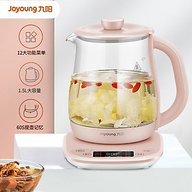 Joyoung Joyoung Health Pot, Tea Boiler, Teapot, Electric Kettle, Kettle, Electric Kettle, 1.5L Glass Flower Teapot K15F-WY122