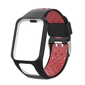 Replacement Silicone Pure Color Watch Strap For TomTom Runner 2 / 3 Breathable Band for Golfer2 Adventunrer Universal Sport Smart Watch Wristband Watch Accessories