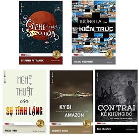 Bộ 5 cuốn TedBooks nên đọc: Cà Phê Trên Sao Hỏa -  Tương Lai Của Kiến Trúc - Nghệ Thuật Của Sự Tĩnh Lặng - Kỳ Bí Dòng Sông Sôi Trong Lòng Amazon - Con Trai Kẻ Khủng Bố