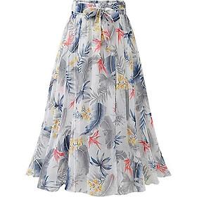 Chân váy voan mềm tung bay phong cách Vintage Châu Âu VAY66 free size