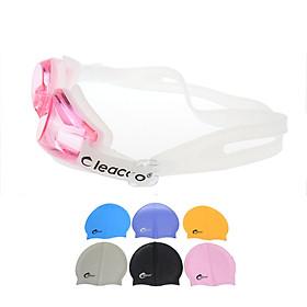 Kính bơi chống sương mờ, chống UV Cleacco, dây đeo được làm 100% silicone mềm mại, thoải mái, thiết kế không trơn trượt, độ co giãn và độ bền thách thức thời gian, dành cho vận động viên chuyên nghiệp hoặc người thích người đi bơi hằng ngày. Tặng nón bơi Silicon Cleacco cao cấp ( Giao màu ngẫu nhiên)