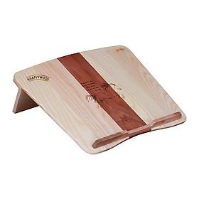 Kệ laptop thông minh có thể gấp gọn vào balô mang đi, Kệ để laptop cho nhân viên văn phòng, giá kê laptop, giá đỡ laptop để bàn, kệ đỡ laptop bằng gỗ Nhatvywood NVLP04