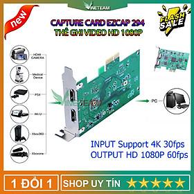 EZCAP 294 Thẻ hộp ghi video cho OBS Live Broadcast Webcast full HD 1080P Video Capture Game Live Card PCI-E 4K 30P HDMI Tương Thích Với Các Hệ Thống Windows/Mac/Linux - Hàng Nhập Khẩu