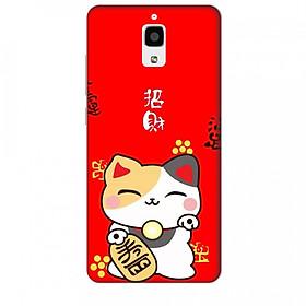 Hình đại diện sản phẩm Ốp lưng dành cho điện thoại XIAOMI MI 4 Mèo Thần Tài Mẫu 1