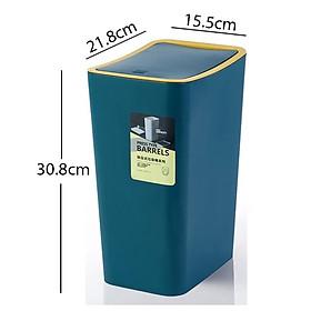 Thùng đựng rác thông minh- Thùng rác nhựa ABS an toàn- Dung tích 10L R08