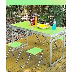 Bộ bàn ghế xếp du lịch, picnic, đi dã ngoãi cao cấp bằng nhôm VIMOS