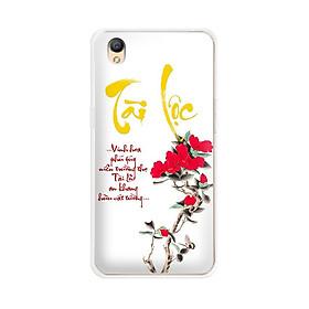 Ốp lưng dẻo cho điện thoại Oppo Neo 9 (A37)  - 01099 7933 TAILOC02 - in chữ thư pháp Tài Lộc - Hàng Chính Hãng