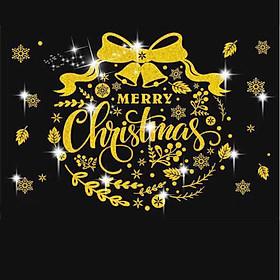 Tấm Decal Trong Dán Tường Kính Trang Trí Chủ Đề Noel Giáng Sinh Merry Christmas