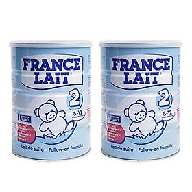 Combo 2 hộp Sữa bột France Lait số 2 (900g)  -  Dinh dưỡng cho trẻ từ 6 -12 tháng tuổi-0