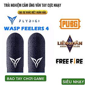 Bộ găng tay chơi game Flydigi Wasp Feelers 4 Sợi Ion Bạc cao cấp cảm ứng - bao tay chơi game PUBG, Liên quân, chống mồ hôi, cực nhạy, co giãn cực tốt - Hàng chính hãng