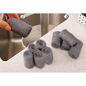 Combo 12 cuộn mút cọ rửa xoong nồi và các vết bẩn bám trên chảo ấm & các vật dụng trong gia đình...- Hàng nội địa Nhật Bản.