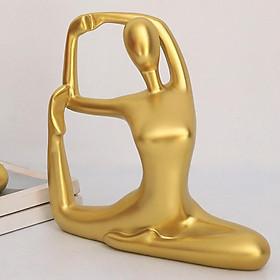 Yoga Statue Figurine Home Office Decor Modern Bookcase Ornament