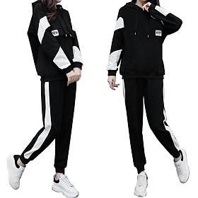 Bộ Quần áo thu đông nam nữ mã TT38  dáng thể dục thể thao hàn quốc đẹp bao gồm áo khoác hoodie và quần jogger