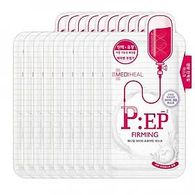 Combo 10 Mặt nạ dưỡng nâng cơ săn chắc da, chống lão hóa Mediheal P:EP Proatin Mask (Firming) 25ml x10