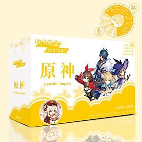 Hộp quà GENSHIN IMPACT chữ nhật ngang in hình anime chibi