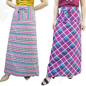 Combo 2 Váy chống nắng 2 lớp phủ chân 1,1m x 1m tặng miếng dán dự phòng 12cm , vải kate cao cấp, có nơ, có túi đựng điện thoại tiện lợi, phù hợp với mọi vòng eo (màu ngẫu nhiên)