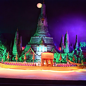 Vé Miniature Thai Royal Barge Pattaya
