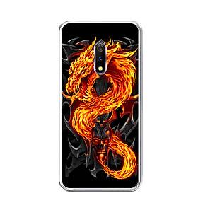 Ốp lưng dẻo cho điện thoại Realme X - 0218 FIREDRAGON - Hàng Chính Hãng