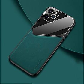 Ốp Lưng Kính Màu Và Da Cao Cấp Dành Cho Iphone 11 Pro Max Nhiều Màu