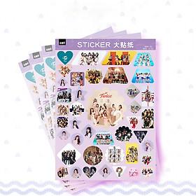 Set 4 tệp hình dán trang trí sticker Twice