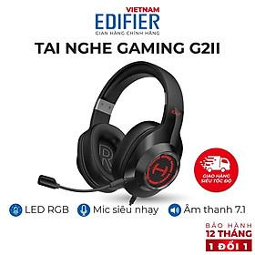 Tai nghe gaming 7.1 EDIFIER G2 II Bản quốc tế mới nhất - Hỗ trợ Mic chống ồn - Âm thanh giảm lập 7.1 - chính hãng