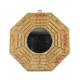 Gương Bát Quái Gỗ Đào Tiên Thiên Cầu Lồi - Trấn Sát Kị Tà, Hóa Giải Hướng Nhà Xấu, Sai Phong Thủy