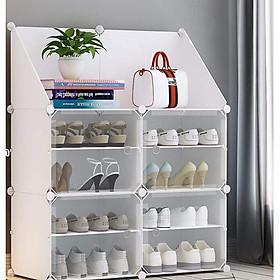 Tủ giày lắp ghép và ô xéo để đồ 2 trong 1 tiện lợi