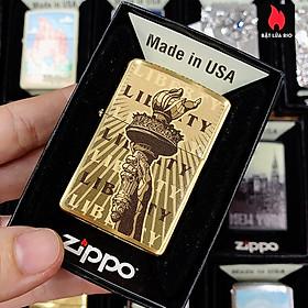 Bật Lửa Zippo 204B Statue Of Liberty Torch