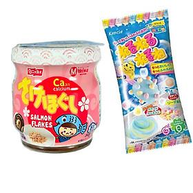 Ruốc cá hồi Meiwa vị ít muối cho bé và gia đình - Tặng 1 gói kẹo popin cookin vị soda